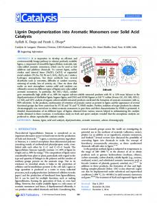 Lignin Depolymerization into Aromatic Monomers ... - ACS Publications