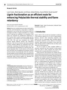 Lignin fractionation as an efficient route for enhancing ... - ORBi