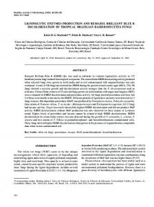 ligninolytic enzymes production and remazol brilliant blue r ... - SciELO