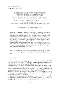 Likelihood ratio tests for symmetry against one-sided alternatives