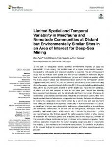 Limited Spatial and Temporal Variability in Meiofauna and ... - Core