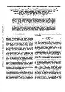 Limits on Dark Radiation, Early Dark Energy, and Relativistic Degrees ...