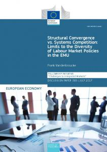 Limits to the Diversity of Labour Market Policies in the European ...