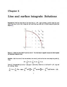 Line and surface integrals: Solutions
