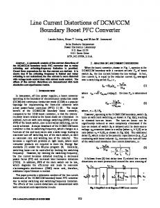 Line Current Distortions of DCM/CCM Boundary Boost PFC Converter