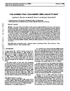 Line emission from circumstellar disks around A stars