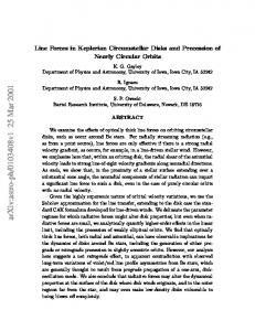 Line Forces in Keplerian Circumstellar Disks and Precession of Nearly ...