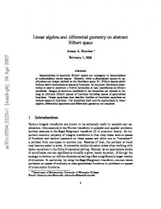 Linear algebra and differential geometry on abstract Hilbert space