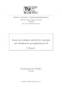 Linear and nonlinear methods for regression and classification and ...