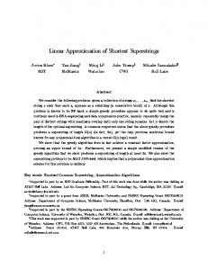 Linear Approximation of Shortest Superstrings