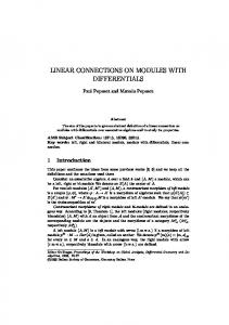 LINEAR CONNECTIONS ON MODULES WITH DIFFERENTIALS