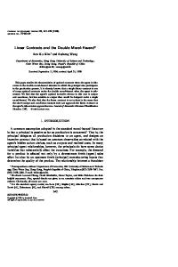 Linear Contracts and the Double Moral-Hazard - Science Direct