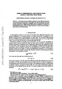 Linear differential equations with slowly growing solutions