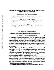 Linear differential equations with solutions in weighted Fock spaces