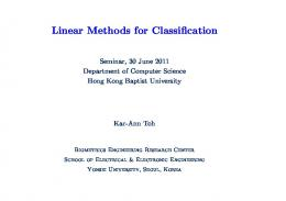 Linear Methods for Classification
