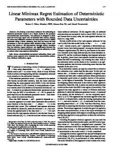 Linear Minimax Regret Estimation of Deterministic Parameters with ...