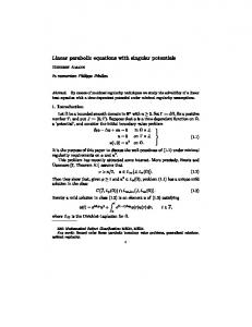 Linear parabolic equations with singular potentials ... - math.uzh.ch