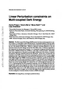 Linear Perturbation constraints on Multi-coupled Dark Energy - arXiv