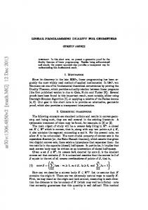 Linear programming duality for geometers