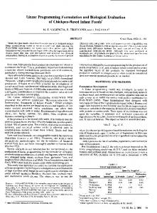 Linear Programming Formulation and Biological ... - AACC International