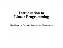 Linear Programming Lecture - disequilibrium.net