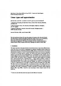 Linear types and approximation