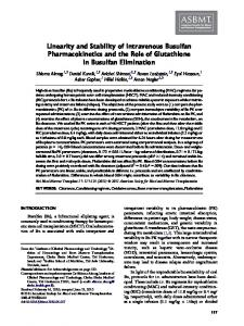 Linearity and Stability of Intravenous Busulfan Pharmacokinetics and ...