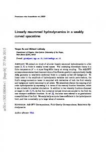 Linearly resummed hydrodynamics in a weakly curved spacetime