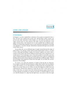 LINES AND ANGLES - NCERT BOOKS and CBSE BOOKS