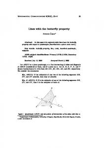 Lines with the butterfly property