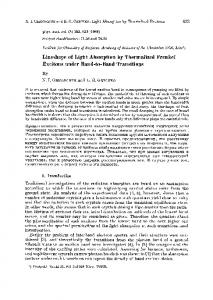 Lineshape of Light Absorption by Thermalized ...