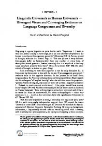 Linguistic Universals as Human Universals - Open Journal Systems