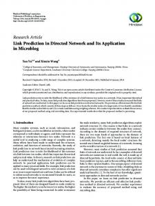 Link Prediction in Directed Network and Its Application in Microblog