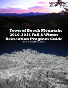 Link to Beech Mountain Parks & Recreation Fall & Winter Program ...