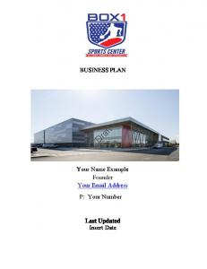 Link To Business Plan Example - Fitness Center