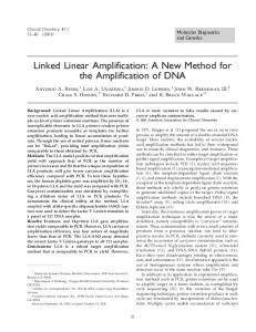 Linked Linear Amplification: A New Method for the ... - Clinical Chemistry