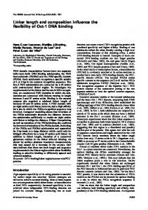Linker length and composition influence the flexibility of ... - Europe PMC