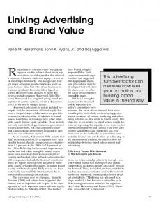 Linking Advertising and Brand Value