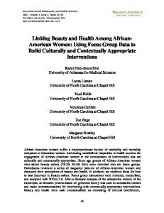 Linking Beauty and Health Among African- American ... - ScholarWorks
