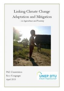 Linking Climate Change Adaptation and Mitigation
