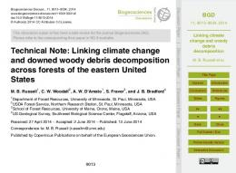 Linking climate change and woody debris