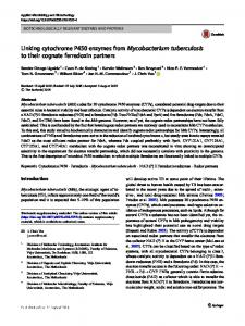 Linking cytochrome P450 enzymes from ...