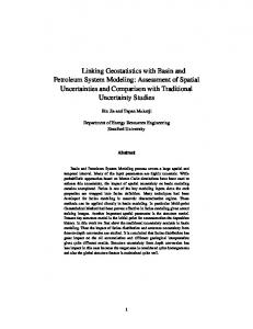 Linking Geostatistics with Basin and Petroleum
