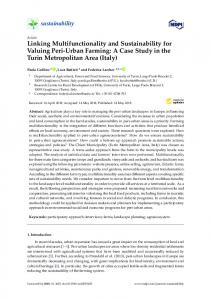 Linking Multifunctionality and Sustainability for Valuing Peri ... - MDPI