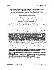 Linking rainforest ecophysiology and ... - Wiley Online Library