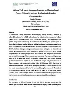 Linking Task-Based Language Teaching and Sociocultural Theory
