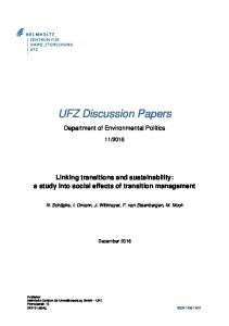 Linking transitions and sustainability - UfZ