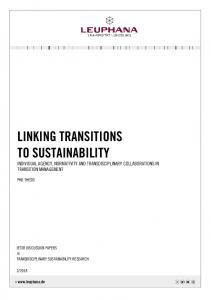 linking transitions to sustainability
