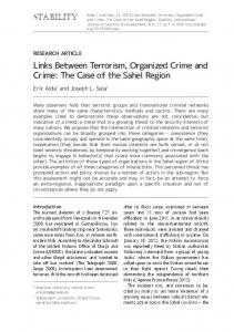 Links Between Terrorism, Organized Crime and Crime - Stability ...