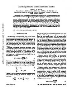 Liouville equations for neutrino distribution matrices